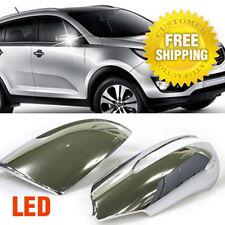 Chrome Side Mirror Cover Molding LED Turn Light Type For KIA 2011-16 Sportage R