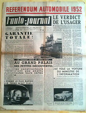 L'AUTO-JOURNAL n°64 du 10/1952; Reférendum Automobile / Consul contre Austin A40