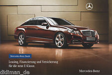 Mercedes E-Klasse Prospekt 212 Leasing Finanzierung  brochure Auto Broschüre