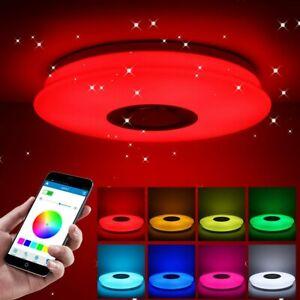 Lampada da Soffitto Plafoniera LED RGB Dimmerabile bluetooth Audio Altoparlante