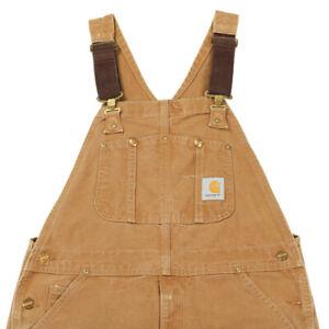 CARHARTT Workwear Dungarees | 34 x 32 | Bib Canvas Overalls Vintage Duck