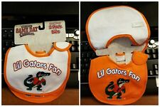 Game Day Outfitters Florida Gators Lil Gators Fan Baby Bibs (2 pk) Brand New