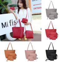 4pcs/Set Lady Shoulder Handbags Leather Women Crossbody Bags Clutch Card Holder