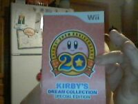 wii, kirby's dream collection special edition manual. MINT CONDITIONS!