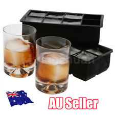 Big 8 Giant Jumbo Large Size Silicone Ice Cube Mold Square Tray Mould DIY ON
