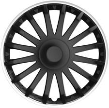 """15"""" 15 INCH CAR VAN WHEEL TRIMS HUB CAPS COVERS FIXING RINGS BLACK & SILVER TRIM"""
