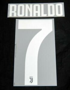 Official Juventus Ronaldo 7 Football Name/Number Set Home 2019/20