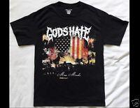 GOD'S HATE Mass Murder Closed Casket Activities Size Medium Black T-Shirt