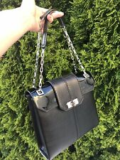 Authentic Cartier Classic Bag Chain Black Calf Leather