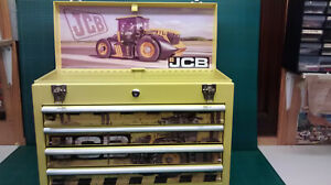 JCB FASTRAC themed and created specialist 4 drawer metal toolbox