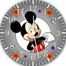 Disney Mickey Mouse Frameless Borderless Wall Clock For Gifts or Home Decor E110