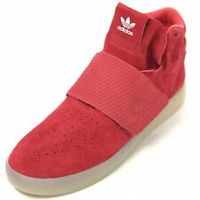 583a0bb8c5ea6 ADIDAS Tubular Invader Strap Men s 11 Red Sneakers Hi Top NEW