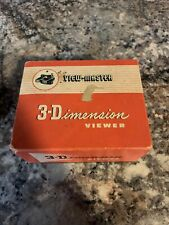 Vintage View-Master 3-D Model E 1950's With Box, Picture Reels & More