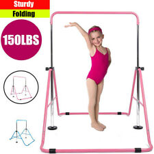Kids Gymnastics Bar Grips Adjustable Folding Gym Horizontal Bars for Home Us