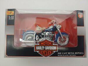 Maisto 1962 FLH Duo Glide Harley Davidson 1:18 Motorcycle Series 9 New