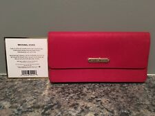 Michael Kors Red Fragrance Wallet Clutch - Magnetic Closure
