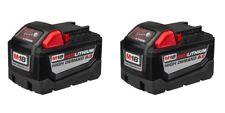 TWO Milwaukee 48-11-1890 M18 HD 18V High Demand 9.0 Ah Li-Ion Batteries