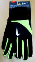 Nike sz L Women's STORM FIT 2.0 RUN Running Gloves NEW NRGC8023 Black Volt