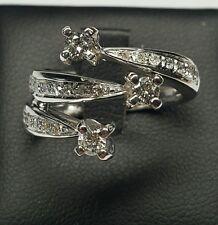 Anello Oro Bianco 18 kt Trilogy mod Recarlo Diamanti 0,60 Carati f color vs1