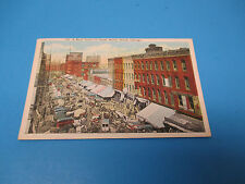 Busy Scene Water St Chicago 1920 Postmarked Vintage Color Postcard PC30
