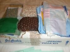 Vintage Fabric Pieces Quilting or Crafts Assorted Holiday Floral