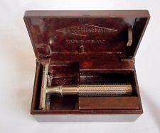 Vintage Gillette Fat handle Tech  Safety razor Bakelite box