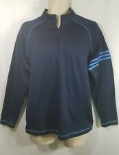Mens Adidas Golf 1/4 Zip BLUE Pullover Athletic Sweater Size m