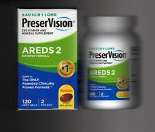 Bausch Lomb PreserVision Eye Vitamin AREDS 2 Formula 120Mini Softgels EXP01/2022