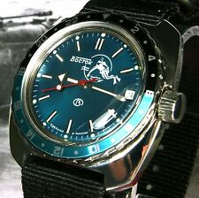 "VOSTOK anfibi, Amphibia ""Scuba Dude"" AUTOMATICO DIVE WATCH, NEW, Boxed, UK Venditore"