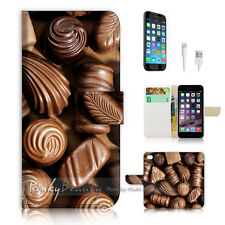 ( For iPhone 7 ) Wallet Case Cover P0527 Chocolate