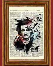 Edgar Allan Poe Dictionary Art Print Picture Portrait Story Print Book Author