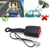 "7/8"" Car Safety Seat Belt Buckle Socket Plug Connector W/Warning Cable Black"