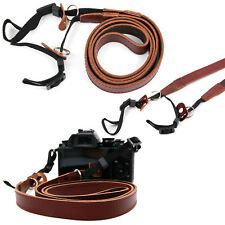 Für Fujifilm GFX 50S Kamera: Echtleder Halsband Schulter Tragegurt Riemen Braun