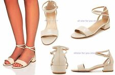Stuart Weitzman Sandals Shoes Ankle Strap Shoes Peewee Leather Wedge Sandals 8M