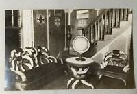 RPPC Otto Hillig Castle Interior Liberty NY Sullivan County Longhorn Chair Photo