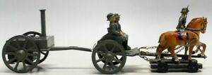 VINTAGE PRE-WAR LINEOL 7CM MILITARY FIELD KITCHEN DRAWN HORSE CARRIAGE