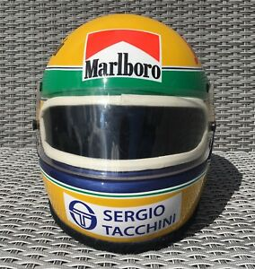 Senna 1984 F1 Helmet Full Size Sticker Kit Full Size Helmet 1.1 Bell XFM1 M1