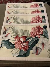 """Set Of 4 Rectangle Floral Design Placemats 17.5""""x12.5"""" (MA)"""