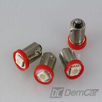 4 X LED Lampe Universel 1 SMD H6W BA9S Couleur Rouge