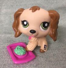 Littlest Pet Shop RARE Cream Pink Hearts Cocker Spaniel #1963 w/Accessories