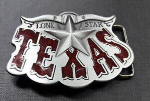 """Hebilla  """"Vintage Red Enamel Western Star Cowboy""""  (buckle)"""