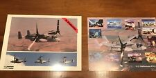 Two Posters V-22 Osprey Bell-Boeing V22 Joint Service Picture posters 8.5 X 11