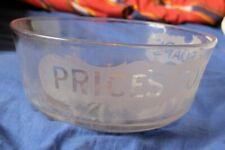 More details for price's toilet soap dish/bowl glass advertising ware chemists/bathroom large