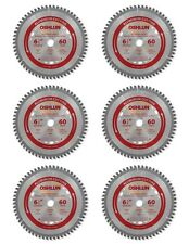 "Oshlun SBNF-065060 6-1/2""x 60T Saw Blade 5/8""/Diamond Knockout Arbor - 6 Pack"