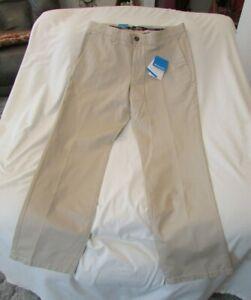 "Men's ""Columbia"" Size 34x34, Beige, PFG-Professional Fishing Gear Dockside Pants"