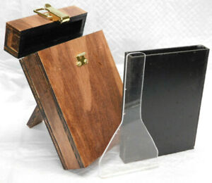 Wet Plate Collodion 4x5 Tank w/ Insert and Dipper Wood Brass