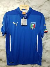 PUMA Italy Soccer Jersey Boys Youth XL 2014-16 Home Blue New with tags 70$