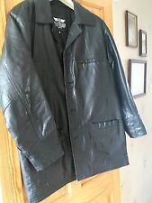 Mens Black Leather Jacket Size Small