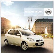 Nissan Micra 2011-12 UK Market sales brochure 1.2 DIG-S Visia Acenta TEKNA
