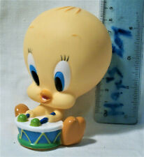 Vintage TWEETY BIRD Rubber toy doll Looney Tunes TM & © WBEI (s10)